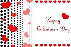 Dotted Happy Valentine`s Day background. stock photos