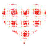 Dotted Heart Royalty Free Stock Photos