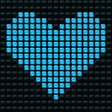 Dotted Heart. Vector illusrtation of dotted heart Stock Illustration