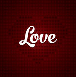 Dotted heart background Royalty Free Stock Photos