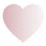 Dotted heart in linear arrangement. Valentine Day theme. Simple halftone gradient  Stock Images