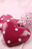 Dotted hearts Stock Photos