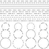 Dotted line for cutting. Different dotted line for cutting royalty free illustration