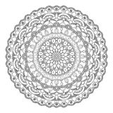 Dotted mandala black on white. Abstract vector pattern Stock Photography
