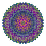 Dotted mandala on white. Colorful dotted vector mandala on white background Royalty Free Stock Images