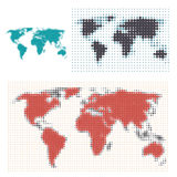 Dotted map designs Royalty Free Stock Image