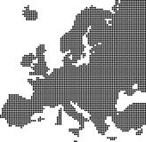 Dotted map of Europe Stock Photos