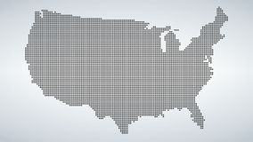 Dotted map of USA,  illustration  on white background.  Stock Photo