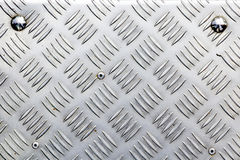 Dotted metal plate. Shiny steel. Royalty Free Stock Photography