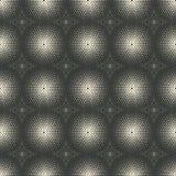 Dotted monochrome geometric seamless pattern Royalty Free Stock Image