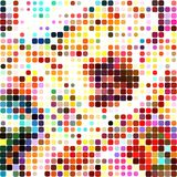 Dotted Mosaic Textile Pattern. A colorful and dotty abstract background pattern Royalty Free Illustration