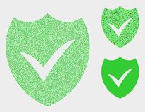 Dotted Vector Valid Shield Icons. Dotted and mosaic valid shield icons. Vector icon of valid shield designed of irregular spheric dots. Other pictogram is royalty free illustration