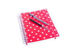 Dotted notebook Stock Photography