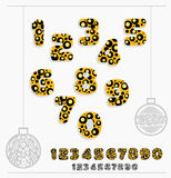 Dotted Numbers Set Stock Image