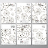Dotted pattern with circles and nodes. Brochure Royalty Free Stock Images