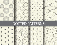Dotted patterns Royalty Free Stock Photos