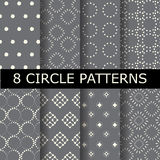 Dotted patterns set Royalty Free Stock Images