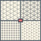 Dotted Patterns Set. Stock Photos