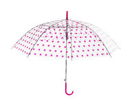 Dotted pink umbrella Royalty Free Stock Image