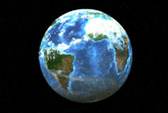 Dotted planet earth (3D) Royalty Free Stock Photos