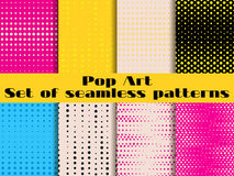 Dotted, Pop Art seamless pattern. Background in pop art style. Set backgrounds pattern stock illustration
