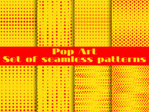 Dotted, Pop Art seamless pattern background. Vector Stock Photos