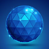Dotted radiance plastic contemporary spherical object with flash Stock Images