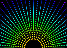 Dotted Rainbow Background vector illustration