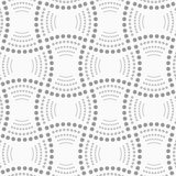 Dotted rectangles with dotted arcs Royalty Free Stock Image