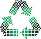 Dotted recycling symbol Royalty Free Stock Photo