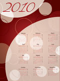 Dotted red 2010 calendar. Dotted and circled red 2010 calendar Royalty Free Stock Image