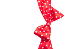 Dotted red ribbon Royalty Free Stock Photography