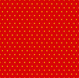 Dotted repeatable popart like duotone pattern. Speckled red yell. Ow pointillist background. Seamlessly repeatable. - Royalty free vector illustration Stock Photos