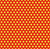 Dotted repeatable popart like duotone pattern. Speckled red yell Stock Photos