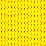 Dotted repeatable popart like duotone pattern. Speckled red yell. Ow pointillist background. Seamlessly repeatable. - Royalty free vector illustration Royalty Free Stock Image