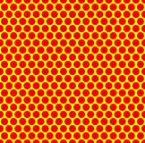 Dotted repeatable popart like duotone pattern. Speckled red yell. Ow pointillist background. Seamlessly repeatable. - Royalty free vector illustration Royalty Free Stock Images