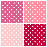 Dotted retro pattern collection Royalty Free Stock Photos