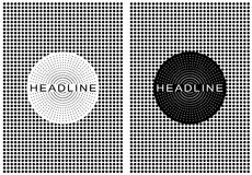 Dotted retro poster black and white Royalty Free Stock Image