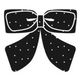 Dotted ribbon bow tie icon, simple style royalty free illustration