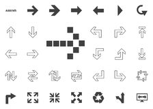 Dotted right arrow icon. Arrow  illustration icons set. Dotted right arrow icon. Arrow  illustration icons set Stock Image