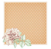 Dotted rose background with ros Royalty Free Stock Photo