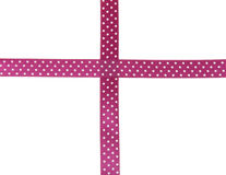Dotted satin ribbon Royalty Free Stock Images