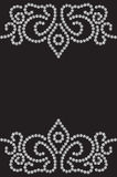 Dotted seamless pattern. Dotted pattern on black, seamless background Stock Image