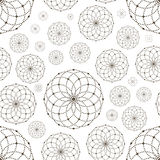 Dotted seamless pattern with circles and nodes Royalty Free Stock Photo