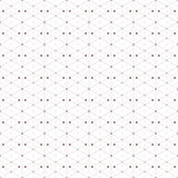Dotted seamless pattern with rhombus and nodes Royalty Free Stock Photography
