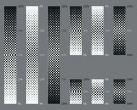 Dotted, seamless and precise gradient background patterns Royalty Free Stock Photography