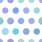 Dotted seamless vector pattern. Royalty Free Stock Images