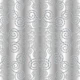 Dotted silver 3d seamless pattern. Floral textured vector background Royalty Free Stock Photography