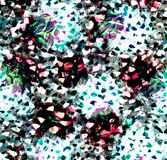 Dotted smears watercolor background Stock Photo