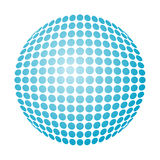 Dotted snowball. Vector dotted snowball with blue gradient Royalty Free Stock Photo